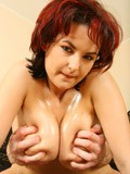 Busty redhead fucked hard and jizzed on from Honey Chest