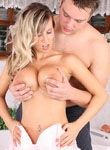 Big tit babe gets felt up and fucked from Honey Chest