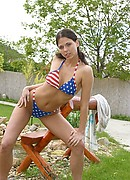 Simony Diamond Patriotic Bikini from Hungarian Honeys
