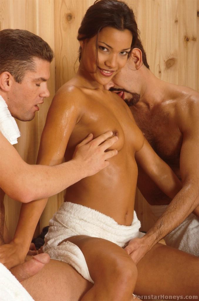 Adriana Sage Sauna Threesome