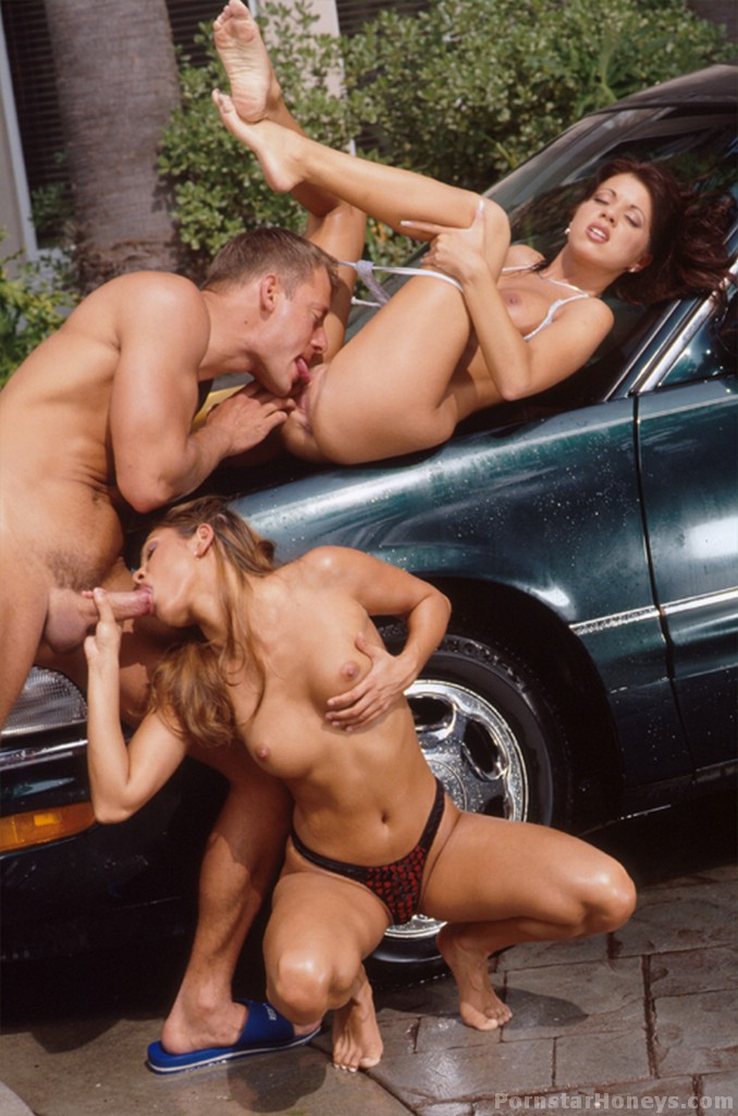 Black bikini car wash
